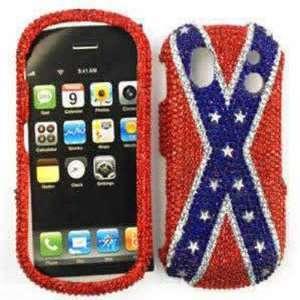 Samsung Intensity 2 u460 Full Diamond Crystal, Rebel Flag Hard Case
