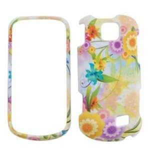 Samsung Intercept M910 Colorful Flowers with Green Leaves