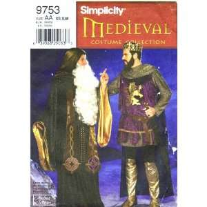 Simplicity 9753 Sewing Pattern Mens Medieval King Arthur