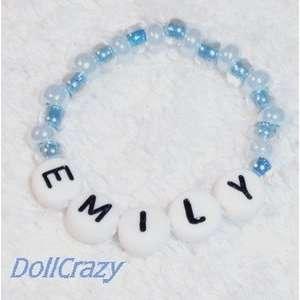 New BLUE NAME BRACELET for Lee Middleton Dolls: Toys