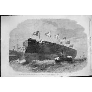 1863 IRON CLAD FLEET MAJESTY STEAM SHIP MINOTAUR THAMES SHIPBUILDING