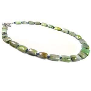 Faceted Opal Crystal Necklace (wi Swarovski Beads