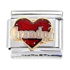 Heart I Love Grandpa Italian Charm Jewelry