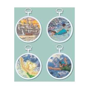 Tinker Bell and Peter Pan Mini Vignette Counted Cross Stitch Kit, Set