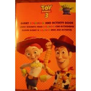 Toy Story 3 GIANT Coloring and Activity Book (covers may