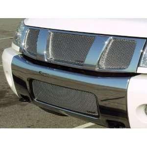Nissan Titan, Armada 04 07 MX Series Grille Upper 3pc in Silver
