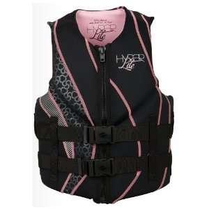 Neoprene Womens Black & Pink Wakeboard Vest