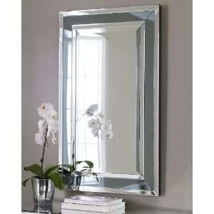 Oversize 50 Black GLASS FRAME XL Wall Mirror Contemporary Modern