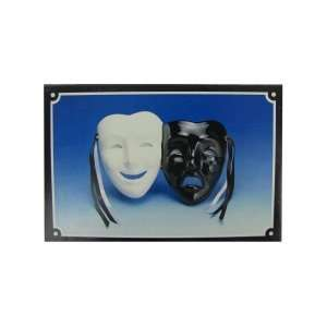 Smile and cry white and black mask wall hanging Pack Of 72: