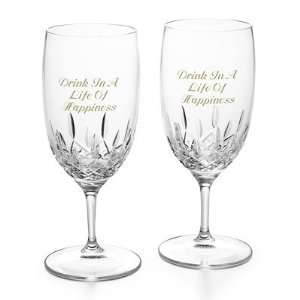Waterford Lismore Essence Water Glass Pair Gift Kitchen & Dining
