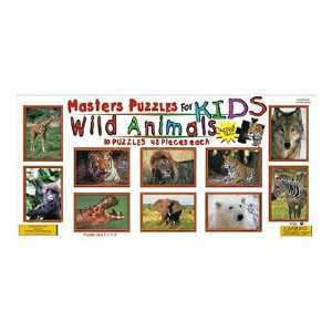 Kids Wild Animals Jigsaw Puzzle 48pc  Toys & Games