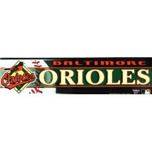 Baltimore Orioles Bumper Sticker Decal