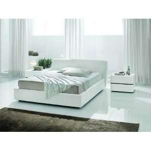 Vig Furniture Sma Strip Queen White Crocodile Leather Bed