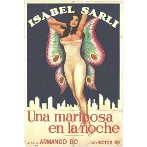 Mariposa en la noche, Una Movie Poster (27 x 40 Inches