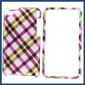 Apple iPod Touch 4 Hot Pink Plaid Protective Case