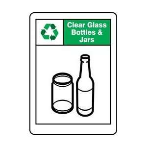 CLEAR GLASS BOTTLES & JARS Sign   14 x 10 Home