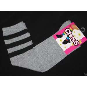 High Grey & Black Striped Socks School Girl Stockings Toys & Games