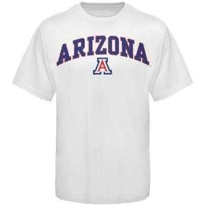 Arizona Wildcat T Shirts  Arizona Wildcats White Arch