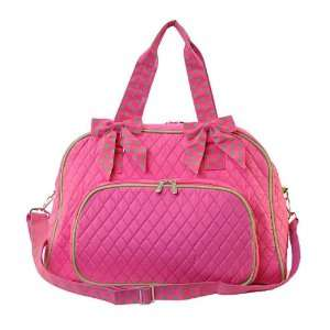 Quilted Overnight Duffle Bag / Double Strap Baby