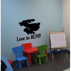 Run bunny Run quote decal    31 X 25 inch sticker    sold