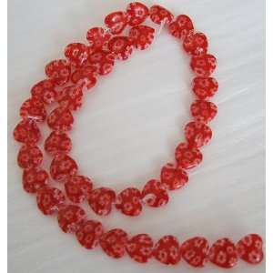 10mm Red Heart Millefiori Glass Beads 15 Everything Else