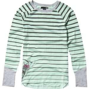 Flirty Crew Girls Long Sleeve Sportswear Shirt   Sea Foam / X Large