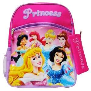 Disney Princess Girls School Backpack w/ Pouch  Toys & Games