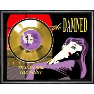 The Damned Thanks For The Night Framed Gold Record A3
