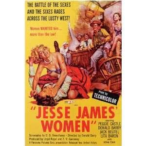 Jesse James Women Movie Poster (11 x 17 Inches   28cm x