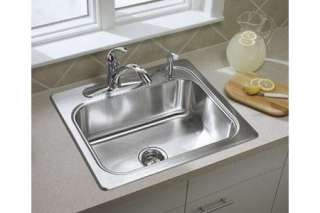 Sterling 11405 4 NA Southhaven Kitchen Sink 25 x 22 x 8 Single Bowl