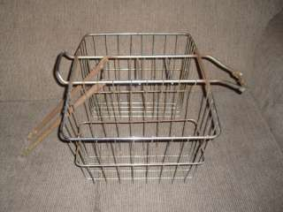 VINTAGE BICYCLE REAR BASKET WITH STORY..