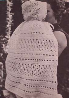 Vintage Baby Hooded Carrying Cape Crochet Pattern