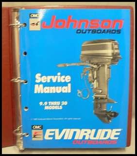 JOHNSON & EVINRUDE OUTBOARD MOTOR SERVICE MANUAL 1989