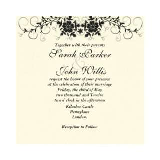 Floral Flourish Wedding Invite by Cardsy_Cathy