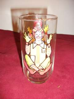 McDonalds Ronald McDonald Series Collectable Glass Cup