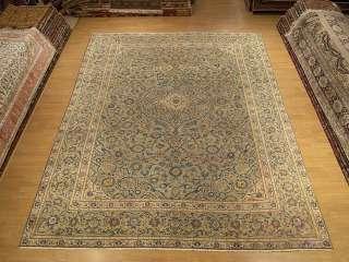 9x12 Beautiful Handmade Antique 1930s Persian Royal Kashan Wool Rug