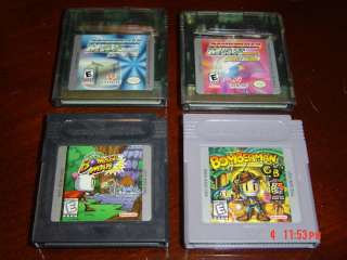 BOMBERMAN GAME BOY LOT~Color/Advance/GBA/SP~MAX/BLUE/GB