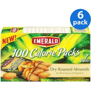 Emerald Dry Roasted Almonds 100 Calorie Packs, 7 ct (Pack
