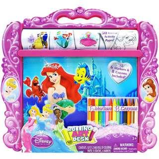 Disney Princess Rolling Art Desk Pretend Play, Arts & Crafts