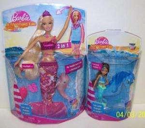 In a Mermaid Tale Barbie & Seahorse Stylist Dolls NEW