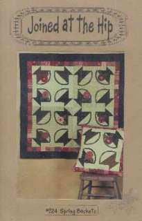Joined at the Hip Spring Baskets Quilt Pattern block