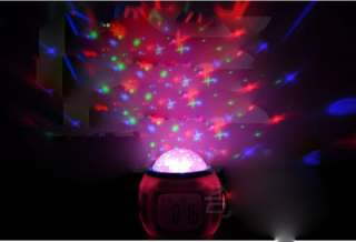 Sky Star Night Light Projector Lamp Bedroom Alarm Clock Children room