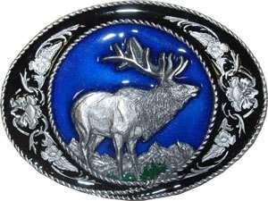 Big ELK Hunting Belt Buckle western deer buck outdoorsman gift