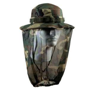 UF CAMO BOONIE HAT W/ CAMO MOSQUITO NETTING   BY SIZE
