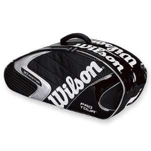 Wilson K Tour Black 6 Pack Tennis Bag   Z8502 Sports