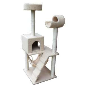 52 Deluxe Cat Tower Tree Furniture with Condo and Scratcher Posts