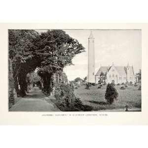 1902 Print Daniel OConnell Monument Glasnevin Cemetery Dublin Ireland