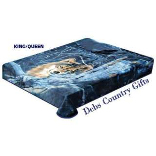 Wolf Plush Heavy Blanket King/Queen 77x91 024409983122