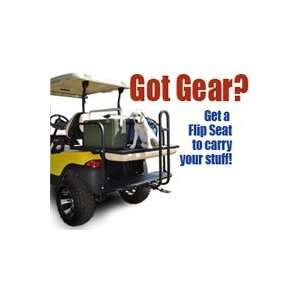 Golf Cart Rear Flip Seat Club Car Precedent White Cushions