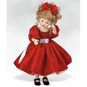 Scarlet, 14 Inch Collectible Girl Doll in Porcelain (Artist Kathy